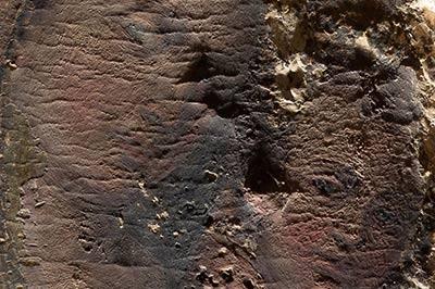 altrospazio fotografia, l'utilizzo della luce radente su un'opera pittorica evidenzia le irregolarità della superficie