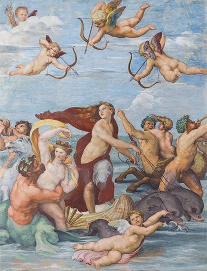 altrospazio fotografia, la Galatea di Raffaello riprodotta in alta definizione - Villa Farnesina, Roma