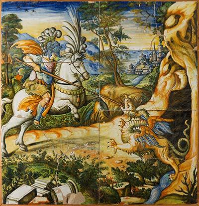 altrospazio fotografia, Ceramica della Bottega Patanazzi conservata nel Palazzo Ducale di Urbino. Riproduzione in alta definizione