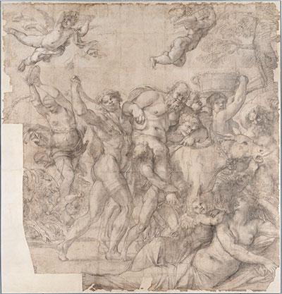altrospazio fotografia, Annibale Carracci, cartone preparatorio per il Trionfo di Bacco affrescato poi a Villa Farnese a Roma
