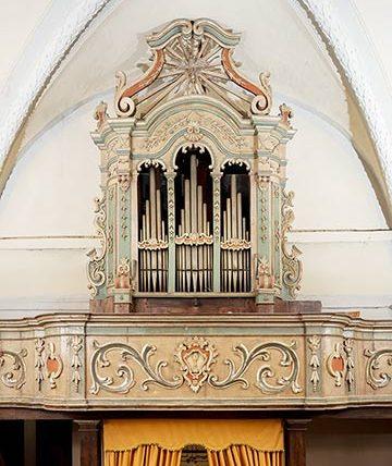 altrospazio fotografia, organo della chiesa di San Nicola, Corcumello (AQ)