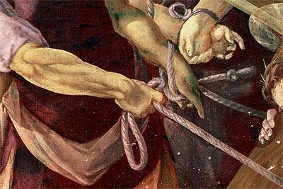 altrospazio, San Ginesio, dipinto di De Magistris, falso colore infrarosso