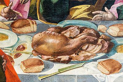altrospazio, San Ginesio, dipinto di De Magistris, Ultima Cena in alta definizione