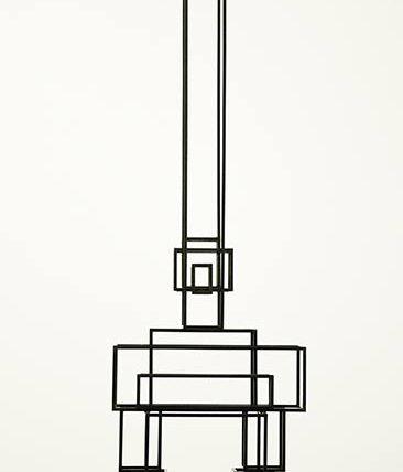 """altrospazio fotografia, Antony Gormley durante l'installazione di """"Drawing Space"""" presso il MACRO di Roma"""