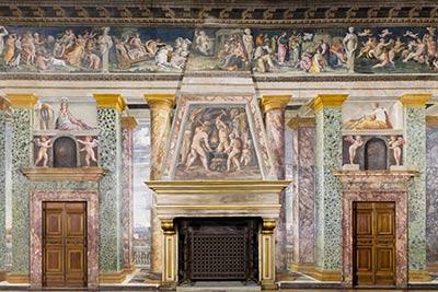 altrospazio fotografia, riproduzione in alta definizione (HD) della Sala delle Prospettive di Villa Farnesina a Roma