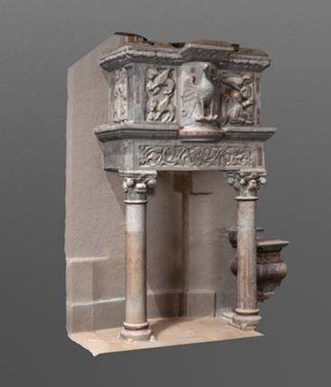 altrospazio, l'ambone della Chiesa di San Nicola, a Corcumello