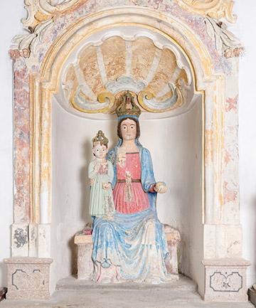 PIC - Palomonte. Madonna lignea della chiesa di SS. Cosma e Damiano
